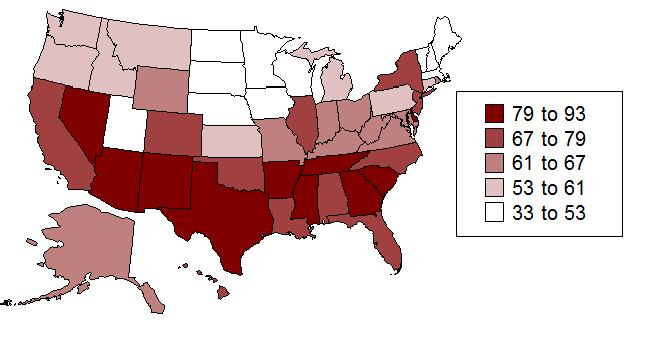 Which state has the most sex